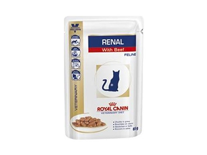 Royal Canin VD Cat Renal beef 85 g kapsička