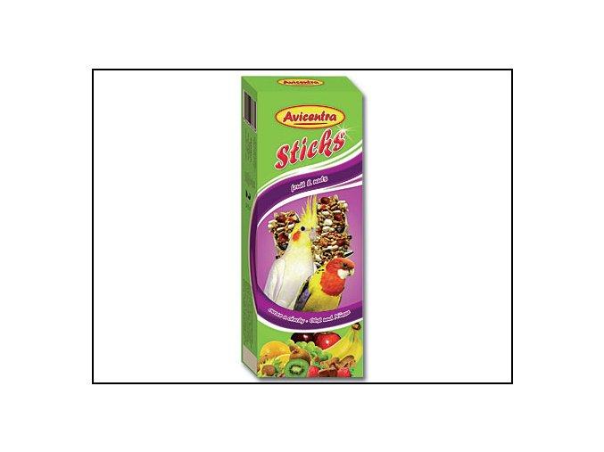 Tyčinky AVICENTRA ovocno - ořechové pro malé papoušky 2 KS