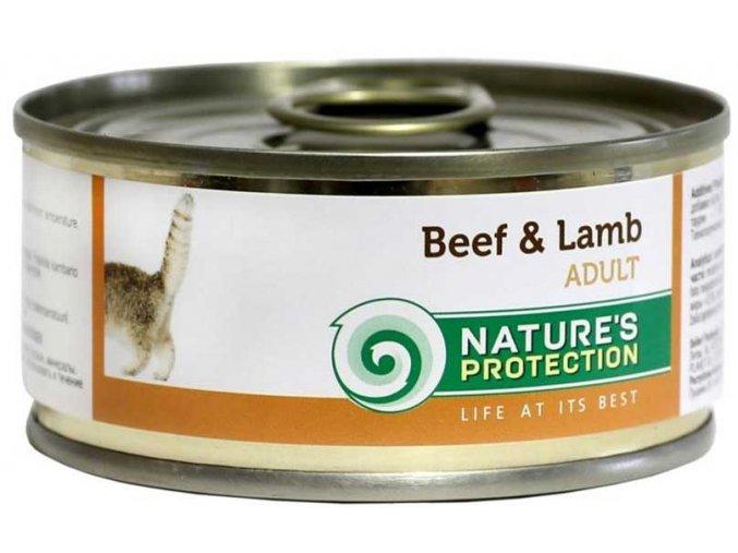 Nature's Protection Cat Adult hovězí/jehně 100 g