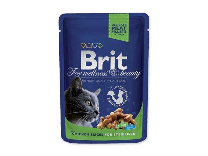 BRIT Premium Cat kapsička Chicken Slices for Sterilised 100 g