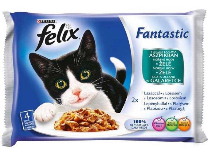 Felix Fantastic Mořské hody v želé 4 x 100 g