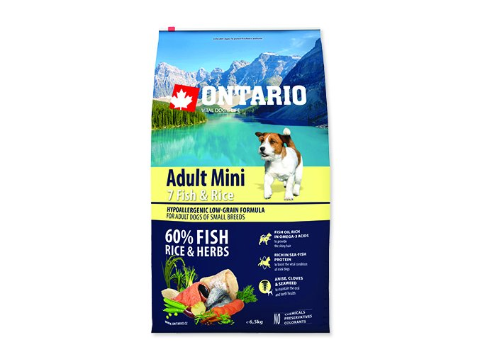 ONTARIO Adult Mini Fish & Rice 6,5 kg