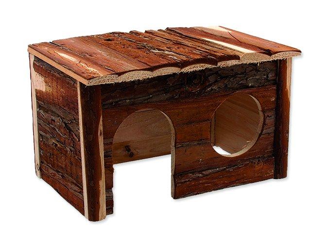 Domek SMALL ANIMALS dřevěný s kůrou 28 x 18 x 16 cm