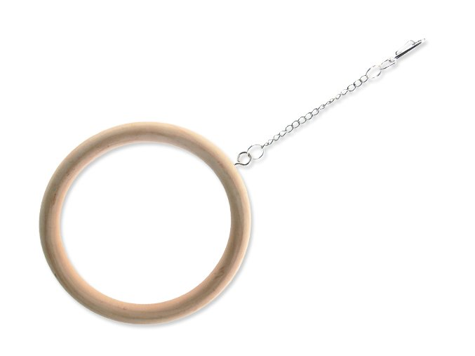Houpačka BIRD JEWEL dřevěná kruhová 15 cm
