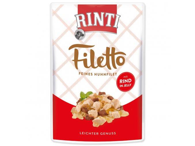 Kapsička RINTI Filetto kuře + hovězí v želé 100 g