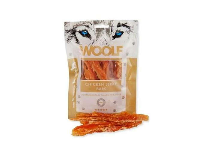 WOOLF Chicken jerky bars 100 g