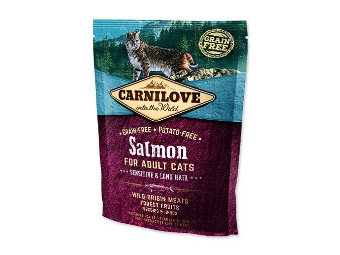 CARNILOVE Salmon Adult Cats Sensitive and Long Hair 400 g
