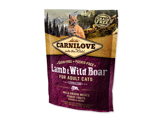 CARNILOVE Lamb and Wild Boar adult cats Sterilised 400 g