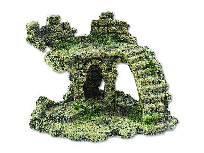 Dekorace AQUA EXCELLENT zřícenina hradu 13 cm