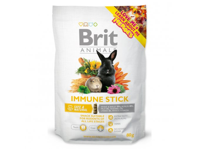 Snack BRIT Animals Immune Stick for Rodents 80g