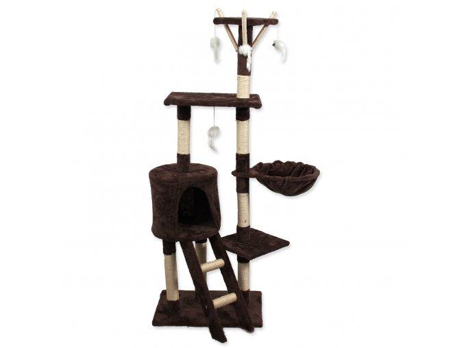 Odpočívadlo MAGIC CAT Mia 35x50x140cm s hračkami hnědé