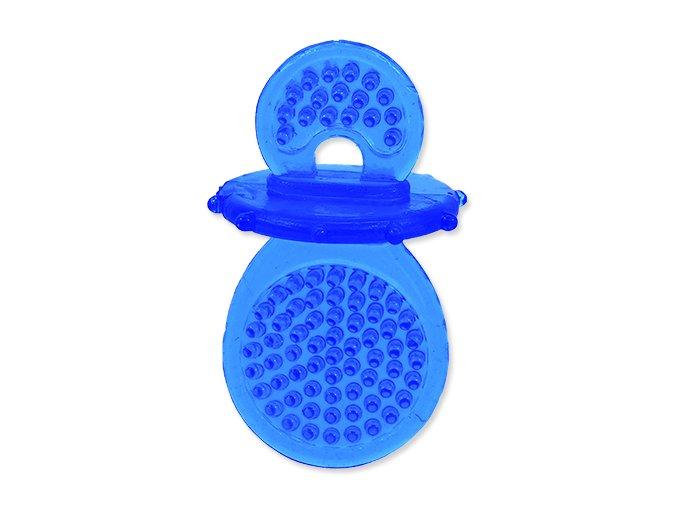 Hračka DOG FANTASY dudlík gumový modrý 8 cm