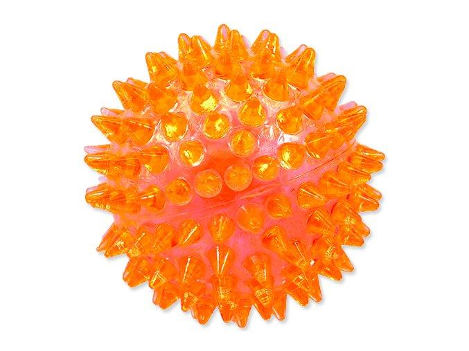 Hračka DOG FANTASY míček pískací oranžový 8 cm