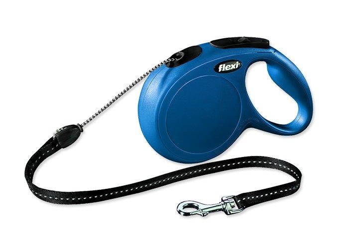 Vodítko FLEXI Classic New lanko modré M 8 m 20 kg