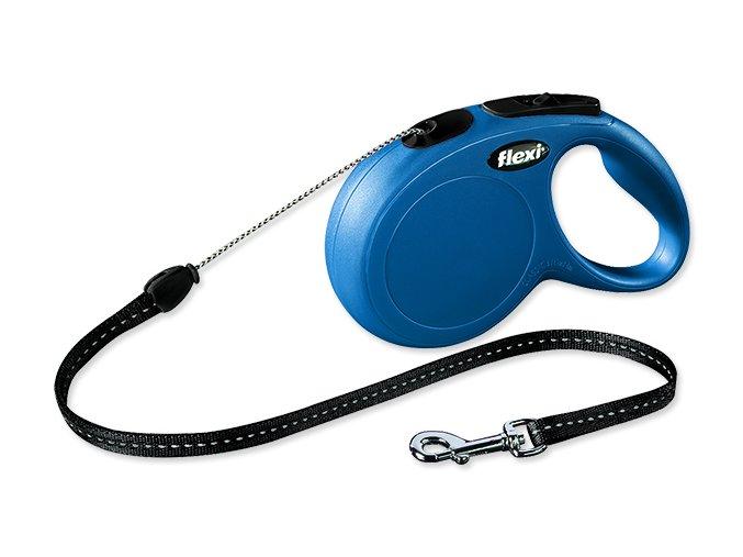 Vodítko FLEXI Classic New lanko modré S 8 m 12 kg