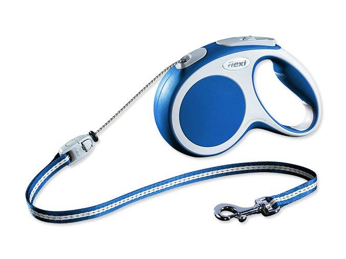 Vodítko FLEXI Vario lankové modré M 5 m 20 kg