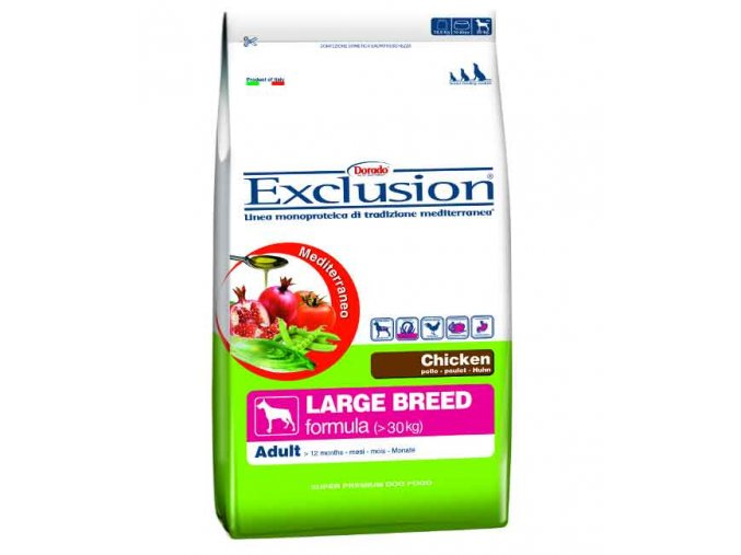 EXCLUSION Large Adult Chicken 12,5 KG