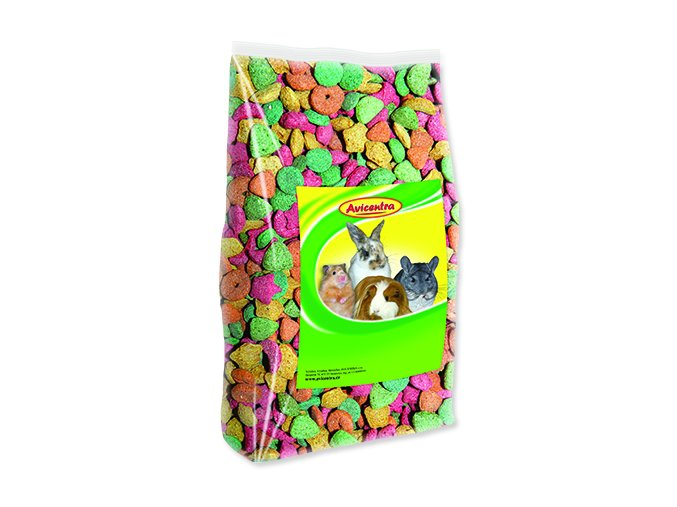 Křupky barevné AVICENTRA pro hlodavce 200 g