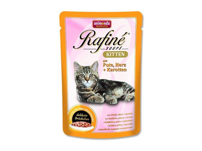 Kapsička ANIMONDA Rafine soupe kitten krůtí + srdce + mrkev 100 g