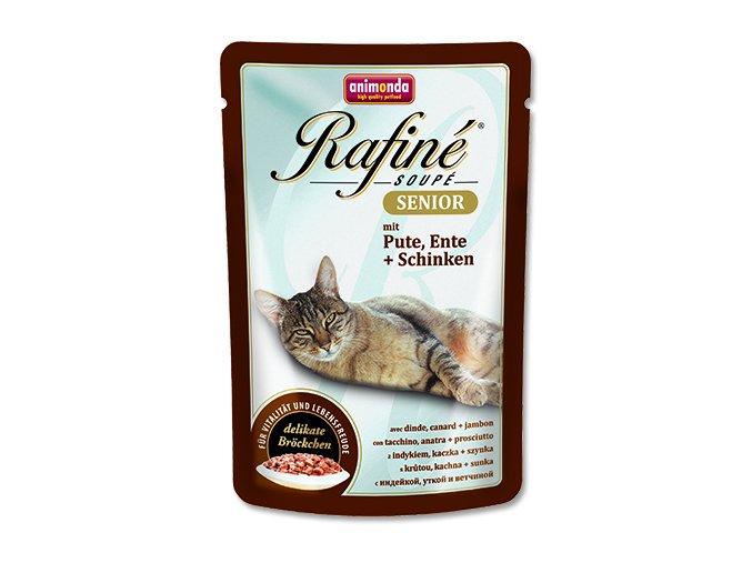 Kapsička ANIMONDA Rafine soupe senior krůta + kachna + šunka 100 g