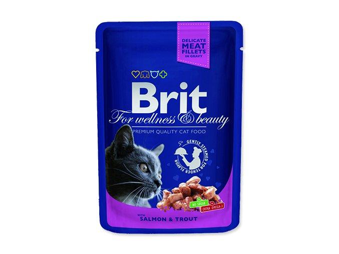 BRIT Premium cat Kapsička salmon & trout 100 g