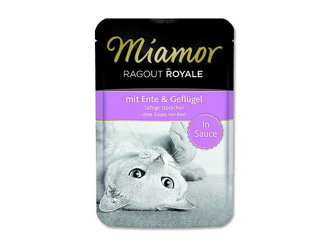 MIAMOR Kapsička Ragout royale kachna + drůbež ve šťávě 100 g