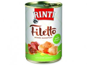 Rinti Konzerva Filetto kuře + kachna ve šťávě 420g
