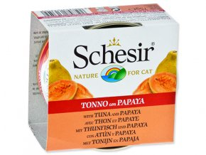Schesir konzerva Cat Fruit tuňák + papaja 75g