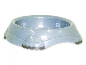 Miska MAGIC CAT plastová protiskluzová šedá 210 ml
