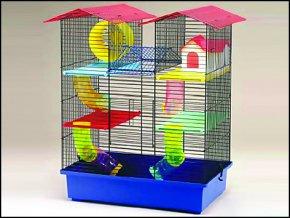 Klec SMALL ANIMALS CH2 modrá + červená 55 cm
