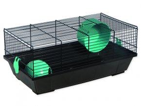 Klec SMALL ANIMALS Viktor černá s modrou výbavou 50,5 cm