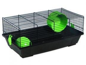 Klec SMALL ANIMALS Viktor černá se zelenou výbavou 50,5