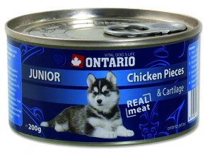 ONTARIO konzerva junior chicken pieces + cartilage 200g