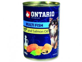 ONTARIO konzerva mini multi fish and salmon oil 400g
