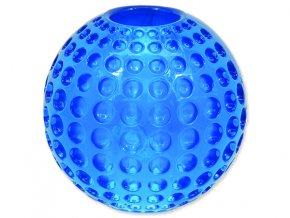 Hračka DOG FANTASY Strong míček gumový s důlky modrý 6,3 cm