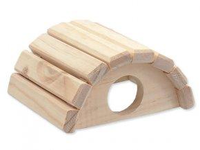 Domek SMALL ANIMAL Půlkruh dřevěný 15 x 13 x 7,5 cm