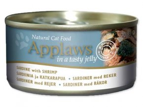 Applaws konzerva Cat Jelly sardine with shrimp 70 g