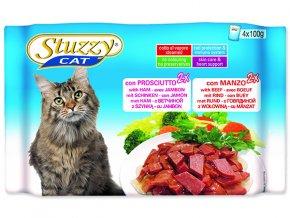 STUZZY Kapsička Cat šunka + hovězí - multipack 400g