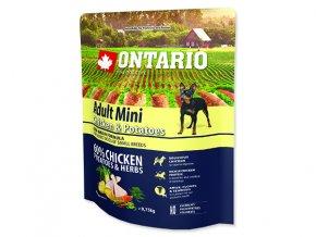ONTARIO Adult Mini Chicken & Potatoes & Herbs 0,75kg