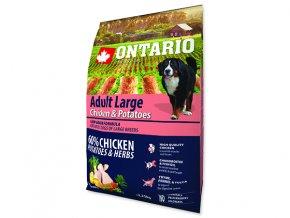 ONTARIO Adult Large Chicken & Potatoes & Herbs 2,25kg