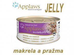 Applaws konzerva Cat Jelly makrela a pražma 70 g