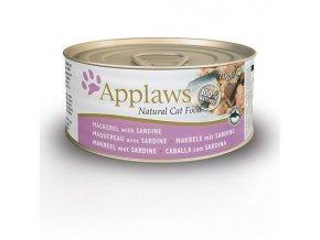 Applaws konzerva Cat 70g makrela a sardinky