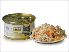 BRIT Care konzerva Chicken Breast & Cheese 80g