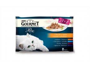 Gourmet Perle kapsička Multipack filety ve šťávě 4 x 85 g (3+1zdarma)
