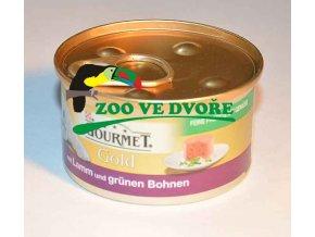 GOURMET Gold konzerva jehně se zelenými fazolkami 85g paštika