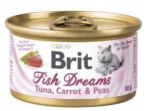 Brit cat Fish Dreams konzerva Tuna, Carrot Pea 80 g