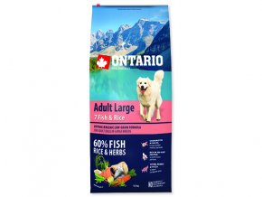 ONTARIO Adult Large Fish & Rice 12 kg