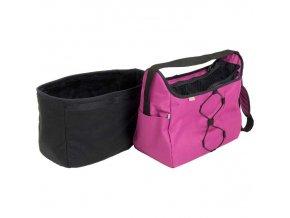 Transp. taška nylon Diana fialová 40 cm - do 7,5 kg