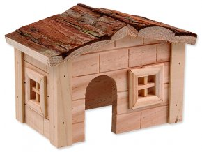 Domek SMALL ANIMALS dřevěný jednopatrový 20,5 x 14,5 x 12 cm