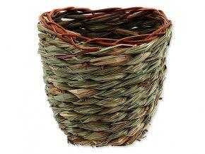 Hnízdo SMALL ANIMALS košík travní pletené 15 x 10 x 15 cm